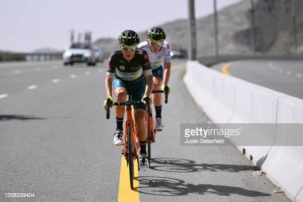 Veljko Stojnic of Serbia and Team Vini Zabu' KTM White Best Young Jersey / Leonardo Tortomasi of Italy and Team Vini Zabu' KTM / during the 6th UAE...