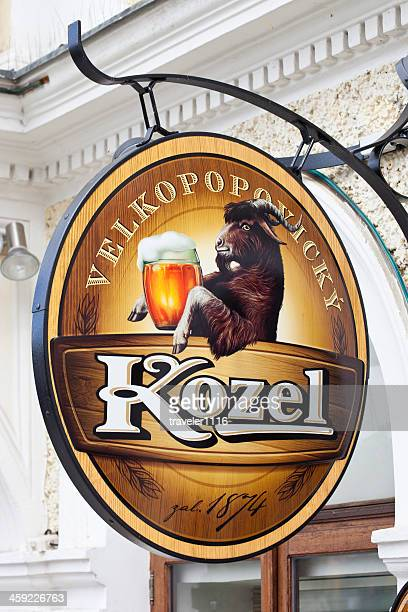 velkopopovicky kozel beer from prague - bohemia czech republic stock pictures, royalty-free photos & images