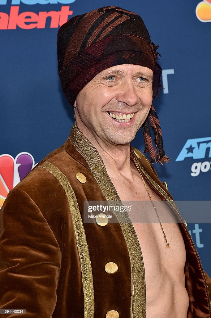 Vello Vaher attends the 'America's Got Talent' Season 11 Live Show at Dolby Theatre on August 23, 2016 in Hollywood, California.