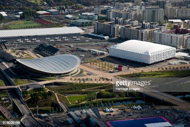 Velodrome, Basketball Arena and Olympic Village, Queen Elizabeth Olympic Park, London, 2012.