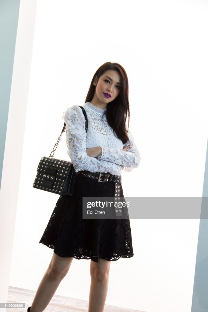 Velove Vexia attends the Michael Kors runway show during New York Fashion Week at Spring Studios on September 13, 2017 in New York City.