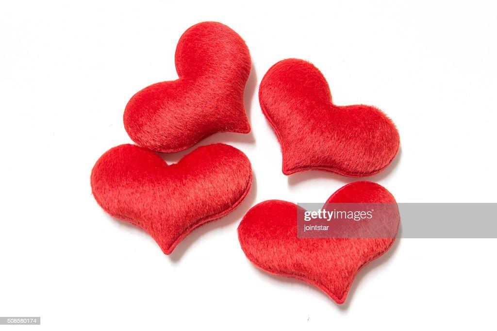 velvet plush heart : Bildbanksbilder