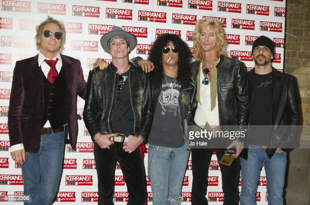 Velvet Revolver arrive at the 11th annual Kerrang Awards 2004 at the Carling Academy Brixton on August 26 2004 in London The music awards hosted by...