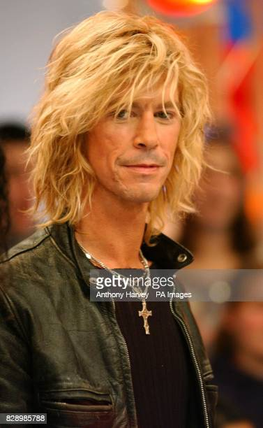 Velvet Revolver band member Duff formerly of Guns'N'Roses during his guest appearance on MTV's TRL UK at the MTV Studios in Camden north London