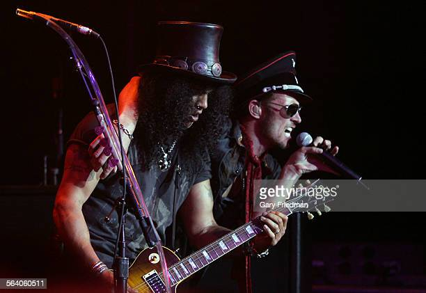 Velvet Revolver led by lead singer Scott Weiland on vocals and Slash on guitar performs at Avalon on 5/3/2007