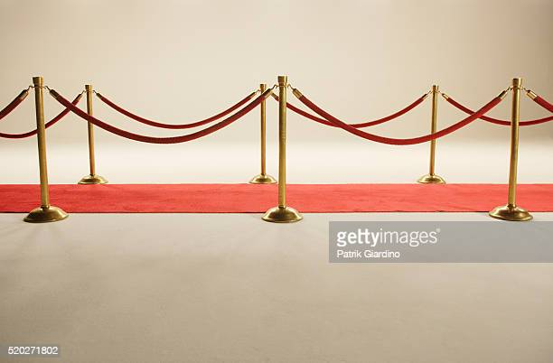 velvet rope and red carpet - roped off stock pictures, royalty-free photos & images