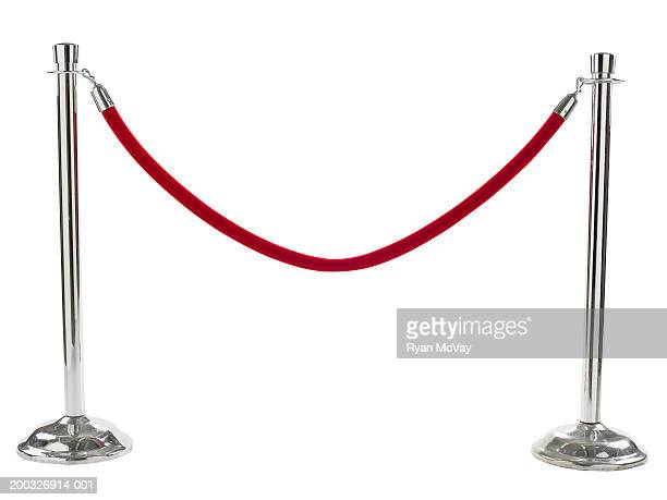 velvet rope barrier - cordon boundary stock pictures, royalty-free photos & images