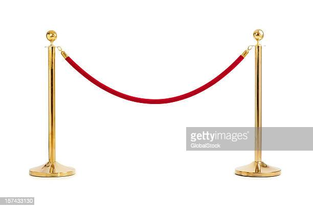 velvet rope isolated - cordon boundary stock pictures, royalty-free photos & images
