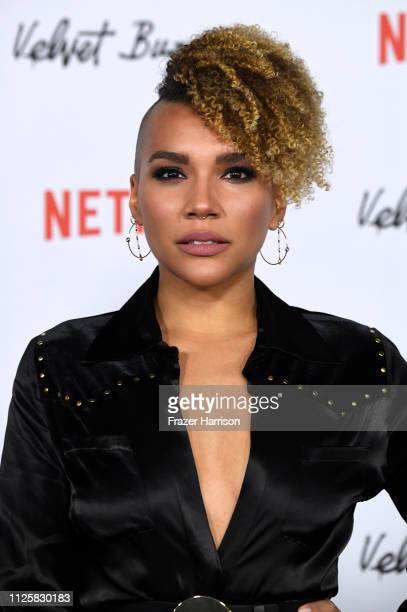 vEmmy RaverLampman attends the Los Angeles Premiere Screening Of Velvet Buzzsaw at American Cinematheque's Egyptian Theatre on January 28 2019 in...