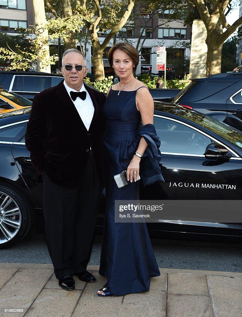 Ven Nilva And Iriana Nilva Pose During Jaguar Land Rover Manhattan Presents  The Opening Of The