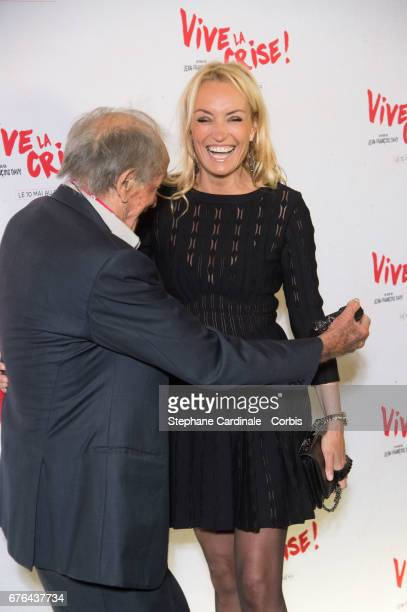 "Venantino Venantini and Christelle Bardet attend the ""Vive La Crise"" Paris Premiere at Cinema Max Linder on May 2, 2017 in Paris, France."