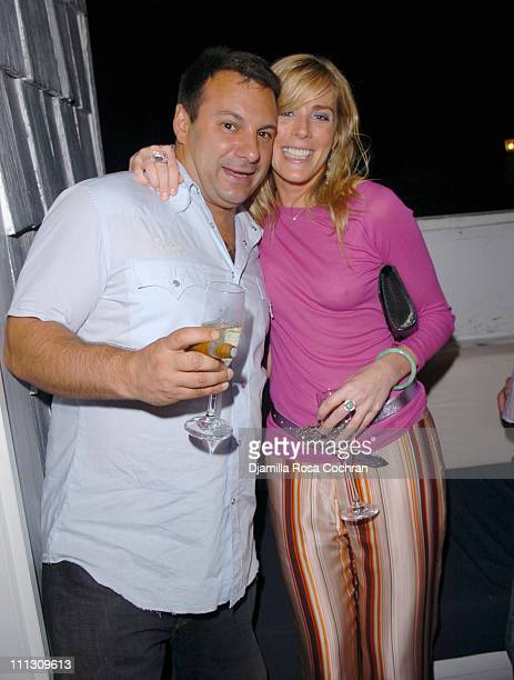 Venanzio Ciampa and Elizabeth Riordan during Pirelli Watches and Hamptons Magazine Host the Golf Classic Party at Cain in Southampton, NY, United...