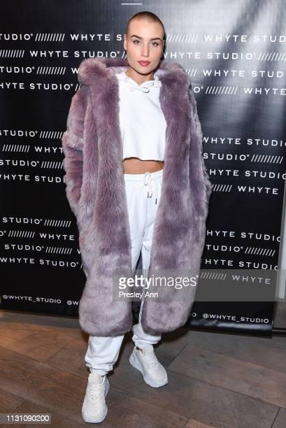 Vendela Lindblom attends Fashion Designer Bianca Whyte's Launch Of Her LondonBased Fashion Label Whyte Studio At Topshop at TopShop on February 20...