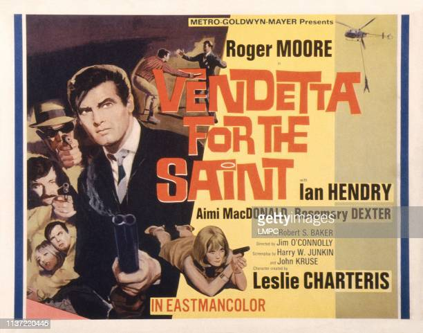 Vendetta For The Saint US lobbycard Roger Moore Aimi MacDonald 1969