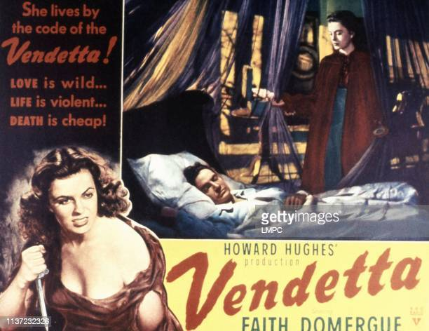 Vendetta lobbycard Faith Domergue George Dolenz 1950