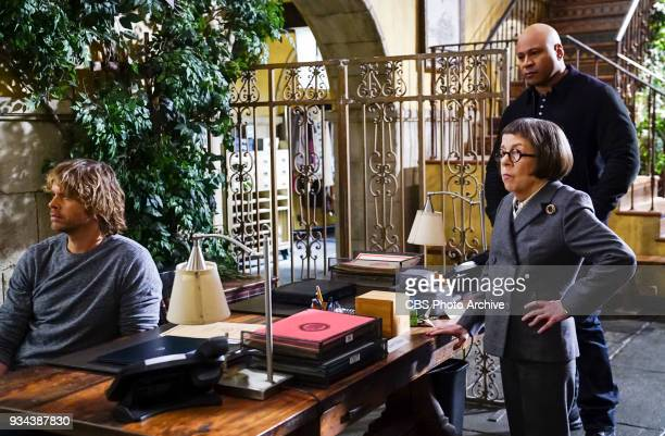 'Vendetta' Pictured Eric Christian Olsen LAPD Liaison Marty Deeks Linda Hunt and LL COOL J Callen and Sam join forces with Anna Kolcheck and the...