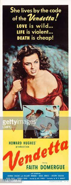 Vendetta poster US poster Faith Domergue 1950