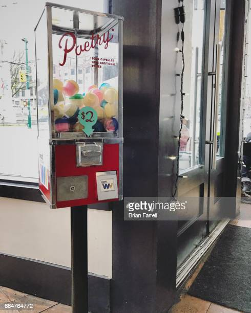 vending poetry - gumball machine stock pictures, royalty-free photos & images
