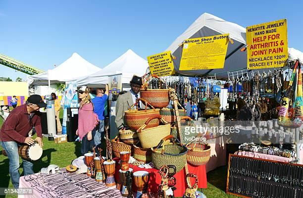 Vendor at a community festival