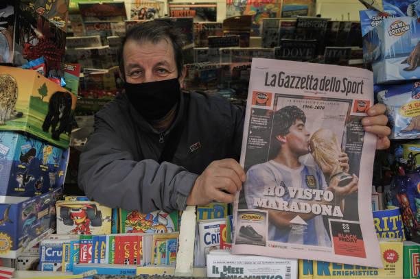 ITA: Diego Armando Maradona Death Mourning