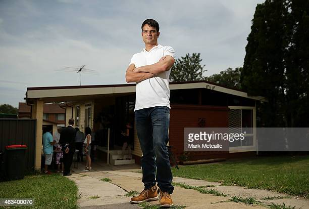 Vendor Neil Tyagi poses before the home auction for his fourbedroom house at 230 Blacktown Road on February 14 2015 in Blacktown Australia The...