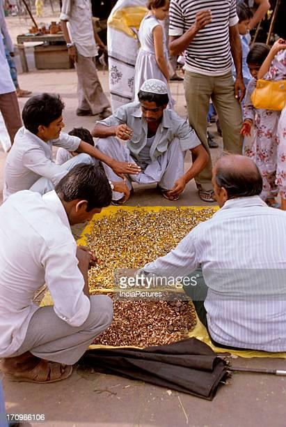 Vendor of rings Jama Masjid Delhi India
