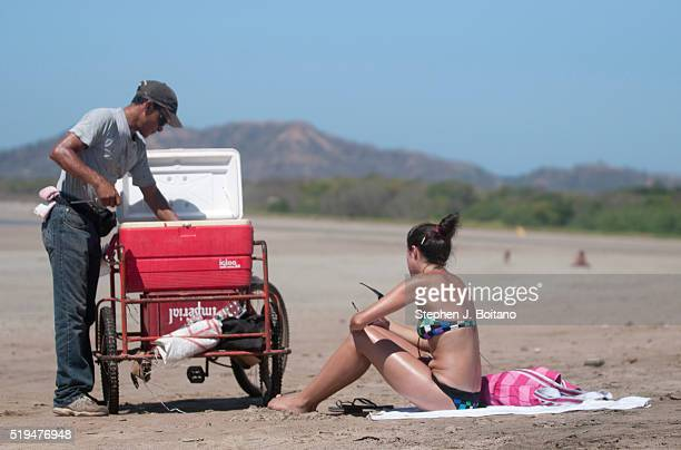 Vendor on the beach at Playa Tamarindo in Costa Rica.