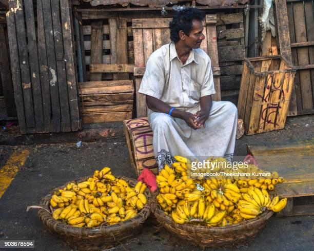 Vendor Selling bananas, Manning Market, Pettah, Colomb