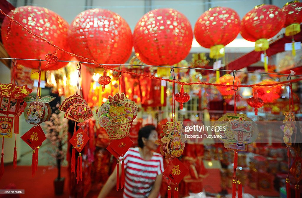 a vendor sells decorations at supermall on february 18 2015 in surabaya indonesia - Chinese Lunar New Year 2015