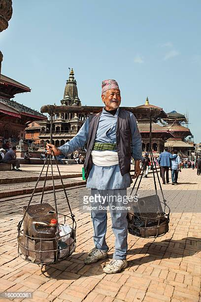 Vendor walking through the Kathmandu streets