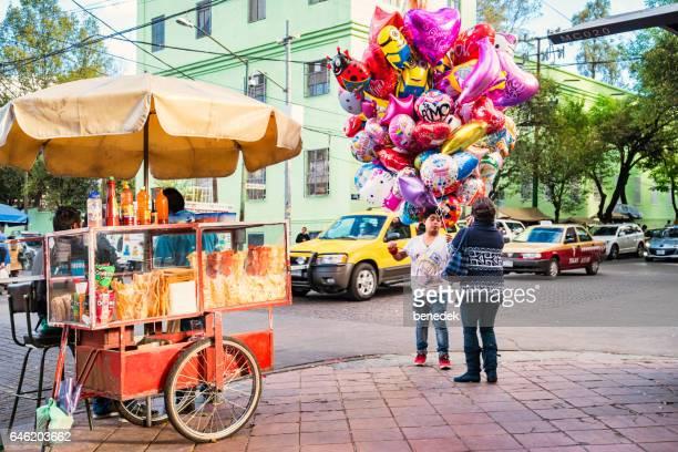 Anbieter im Stadtteil Coyoacán, Mexiko-Stadt