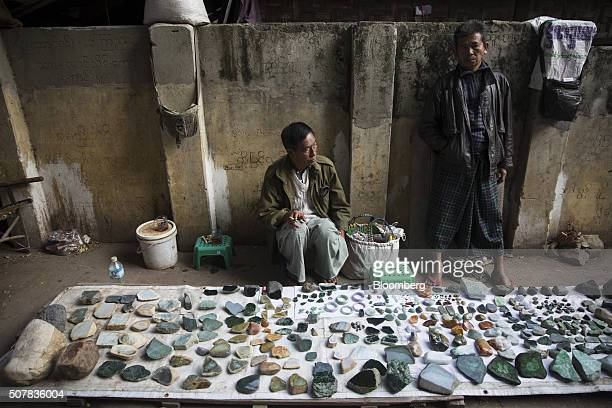 Vendors wait for customers at the Mandalay Jade Market in Mandalay Myanmar on Saturday Jan 30 2016 As Aung San Suu Kyi's party assumes control of...
