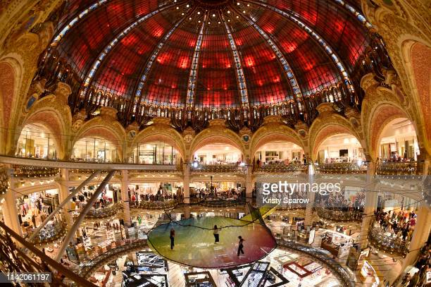 Vendredi sur Mer performs during the 1 3Funorama Launch Party at The Galeries Lafayette Haussman on April 11 2019 in Paris France
