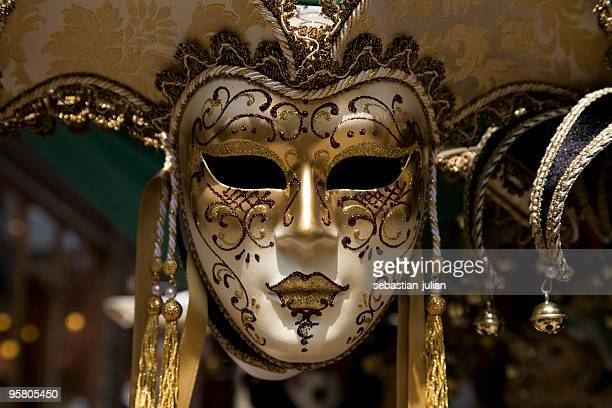 venecian carnival mask xl - dolly golden stock pictures, royalty-free photos & images