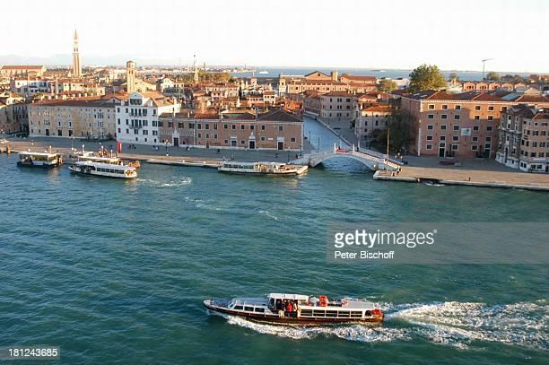 Venedig Italien Europa Hafen Grachten Boote Häuser Reise