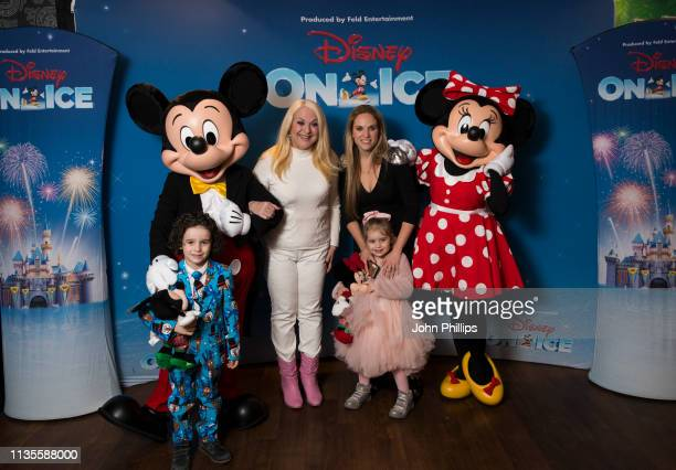 Venessa Feltz and Allegra Kurer attends The Wonderful World of Disney On Ice VIP Launch at The SSE Arena Wembley on March 13 2019 in London England