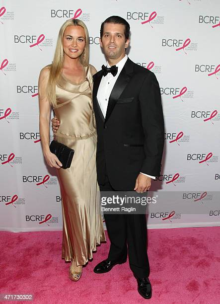 Venessa Trump and Donald Trump Jr attend The Breast Cancer Research Foundation 2015 Pink Carpet Party at The Waldorf=Astoria on April 30 2015 in New...