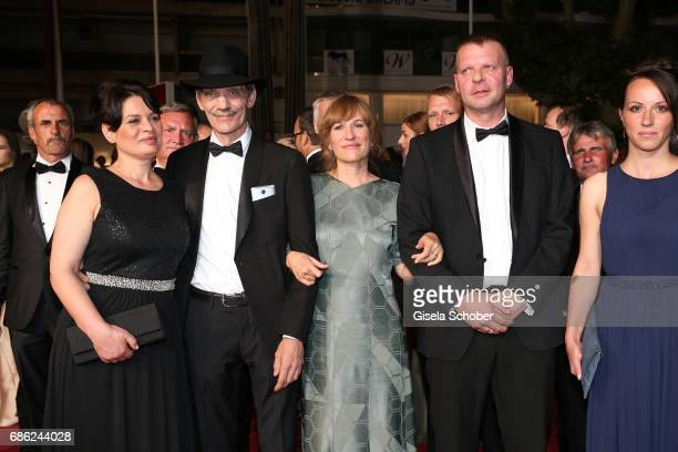 Veneta Fragnova Meinhard Neumann Valeska Grisebach Reinhardt Wetrek Vyara Borisova attend the 'Western' screening during the 70th annual Cannes Film...