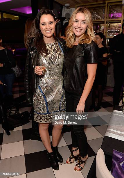 Venetia Falconer and Caggie Dunlop attend the Urban Decay x Gwen VIP dinner at Hotel Chantelle on December 8 2015 in London England