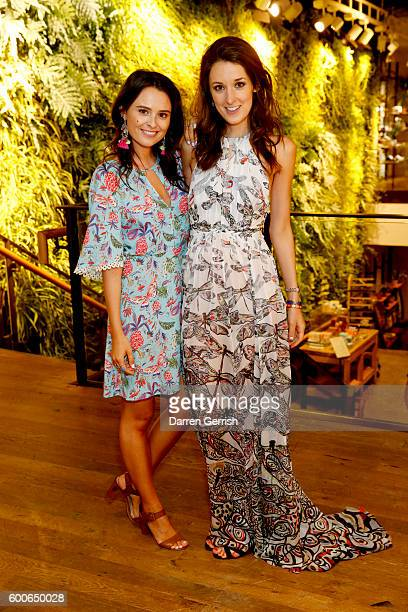Venetia Falconer and Rosanna Falconer attend the book launch of Matthew Williamson Fashion Print Colouring by Laurence King Publishing at...
