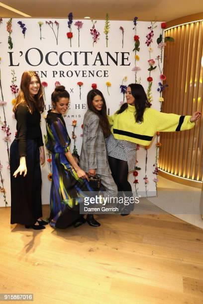 Venetia Falconer Sarah Ann Macklin Rosanna Falconer and Danielle Copperman attend L'OCCITANE launch party at their flagship store on 7476 Regent...