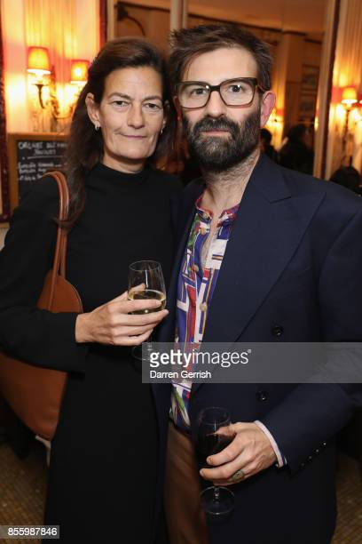 Venetia Scott and Christopher Di Pietro attend a dinner in Paris to celebrate Another Magazine A/W17 hosted by Vivienne Westwood, Andreas Kronthaler,...