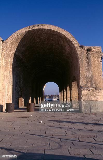 Venetian arsenal, Heraklion, Crete, Greece.