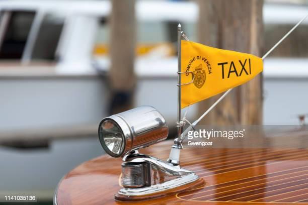 Signe de taxi de bateau vénitien