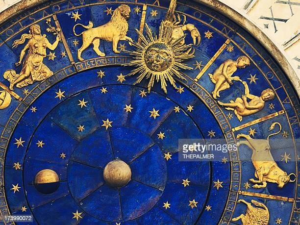 venetian clock - astrology sign stock photos and pictures
