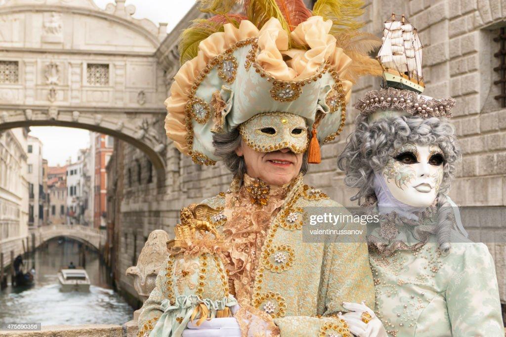 Venetian Couple : Stock Photo