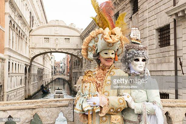 venetian couple - venice carnival stock pictures, royalty-free photos & images
