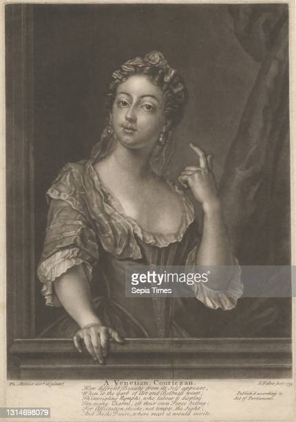 Venetian Courtesan, Print made by John Faber the Younger, ca. 1695–1756, Netherlandish, active in Britain, after Philippe Mercier, 1689 or 1691–1760,...