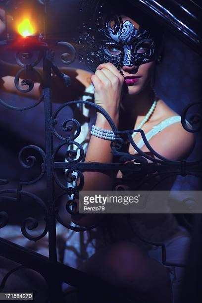 venetian fairy - masquerade mask stock photos and pictures