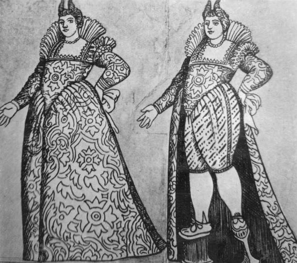 Venetian fashion of the 16th Century, showing how a...
